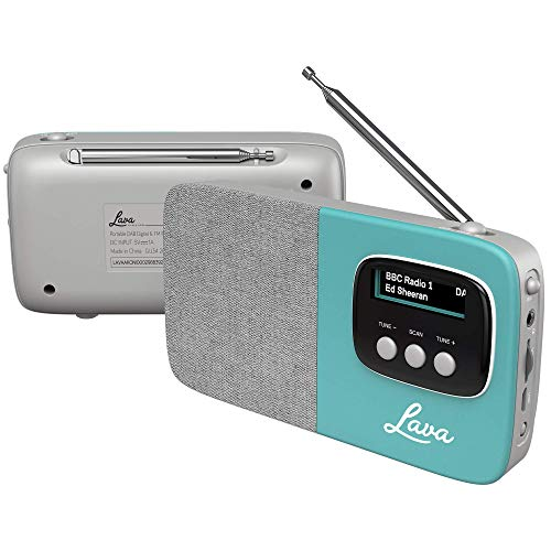Lava Akoni Tragbares DAB- und DAB+ Digitalradio mit UKW, Bluetooth, Micro-USB und integriertem Akku - Aquamarin