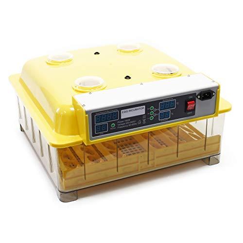 Wiltec Automatische Brutmaschine 48 Eier Brutapparat Flächenbrüter Inkubator