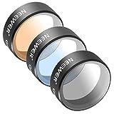 Neewer pour DJI Mavic Pro 3 Pièces Filtre Set Comprend: (1)Filtre Gris Gradué, (1)Filtre Orange Gradué, (1)Filtre Bleu Gradué