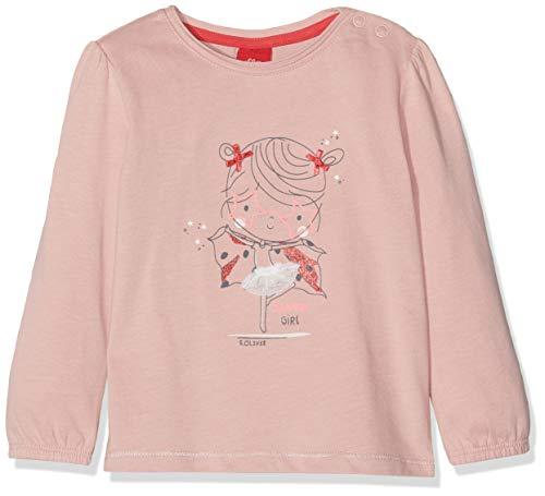 s.Oliver Baby-Mädchen 65.908.31.8700 Langarmshirt, Rosa (Dusty Pink 4257), (Herstellergröße: 92)