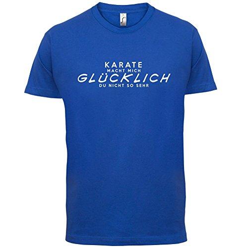 Karate macht mich glücklich - Herren T-Shirt - 13 Farben Royalblau