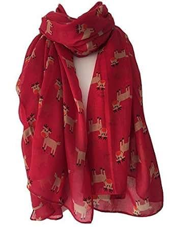 Pink Robin Scarf Birds Wrap Ladies Red Robins Bird Secret Santa Christmas XMAS