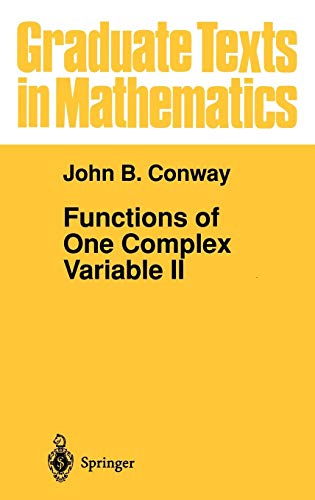 Graduate Texts in Mathematics: Functions of One Complex Variable II