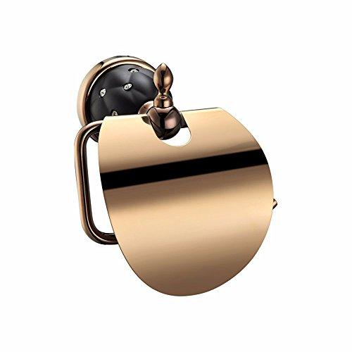 Badaccessoires Sets/Continental Zinklegierung Rose Gold schwarz Alte kit Tasche klicken Sie angespannt, zweipolig, WC-Papier Rack auf den doppelten Schale Seife, Toilettenpapier, Rack