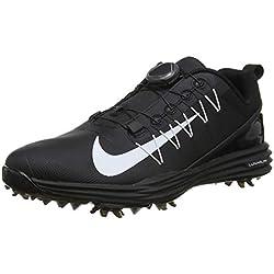 Nike Wmns Lunar Command 2 Boa, Zapatos de Golf para Mujer, Negro White-Black 001, 39 EU