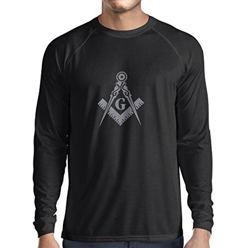 T-shirt manica lunga da uomo muratori (massoni) - accessori per gli uomini con i simboli
