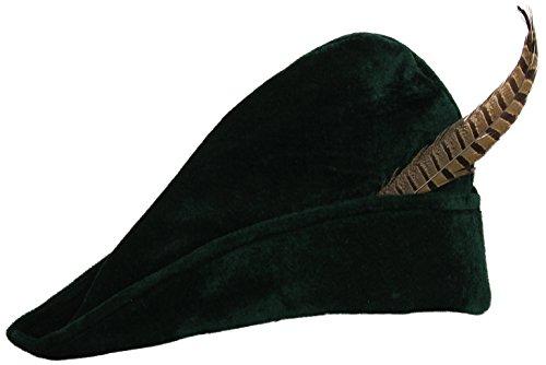 Widmann Prinz der Diebe mit der Partei Feder Theme Hüte Mützen und Hut Kostüm Zubehör (Feder Mit Hut)