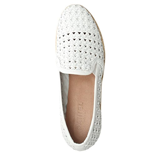 Daniel Shirlington White Leather Woven Espadrille Loafer White Leather