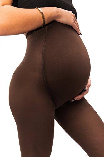 sofsy Opaque Umstandsstrumpfhose - Super komfortable Unterstützung Strumpfhosen für alle Phasen der Schwangerschaft 50 Den [Hergestellt in Italien] Cappuccino 4 - Large (Vier Unternehmen)