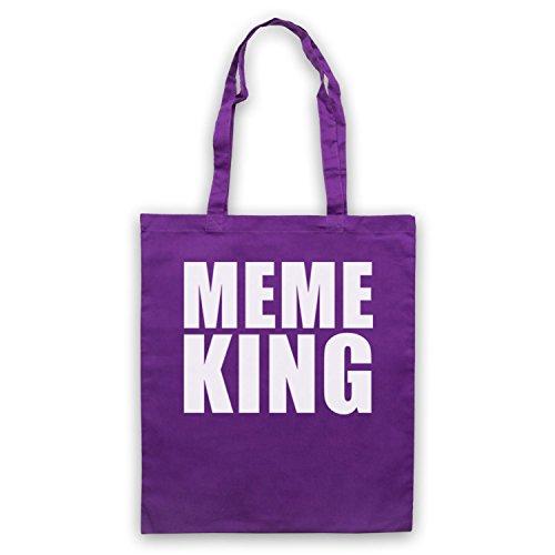 Meme King Meme Umhangetaschen Violett