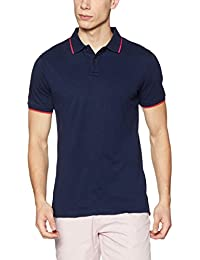 Peter England Men's Solid Regular Fit Cotton Polo