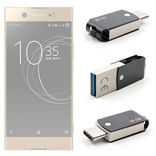 Duragadget flash drive otg 16 gb per cellulare sony xperia xa1 ultra / xperia xz premium / xperia l1 / xperia xa1 plus / xperia xz1 / xperia xz1 compact / xperia l2 / xperia xa2 / xperia xa2 ultra / xperia xz2 / xperia xz2 compact / xperia xz2 premium – connessioni usb 3.0 / usb-c 3.1 - fino a 10 volte più veloce di una usb 2.0 – velocità di lettura fino a 100 mb al secondo