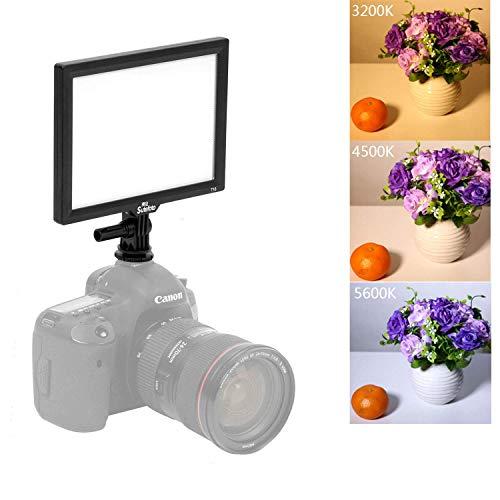 SUTEFOTO T16 Pro Bi-Color Dimmbar LED Videoleuchte Kamera Camcorder Videolicht 16W CRI 97+ 3200 to 5600 K 1080 LUX für Canon Nikon Pentax Sony Kameralicht (Batterie und Netzteil Nicht enthalten)