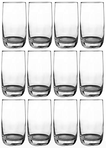 Luminarc - Wassergläser Longdrinkgläser | 12-teiliges Set | 330 ml | spülmaschinenfest | Hochwertige Qualität | Trinkgläser | Universalglas | Kratz- und schlagfest - Saft-set