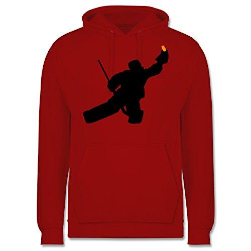 Shirtracer Eishockey - Towart Eishockey Eishockeytorwart - M - Rot - JH001 - Herren Hoodie