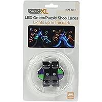LED lacet clignotant couleurs vert et violet