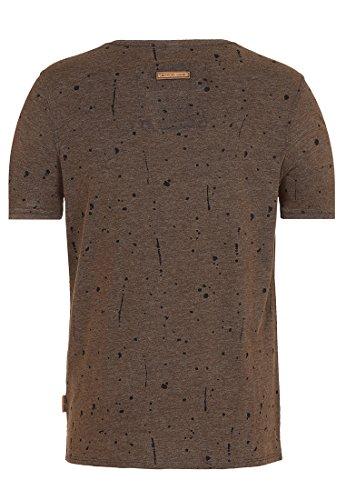 Naketano Male T-Shirt What's The 411 Heritage Anthracite Melange