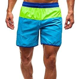 Pantaloncini bagno uomo Shorts bagno Colore strisce Costumi daspiaggia Spiaggia