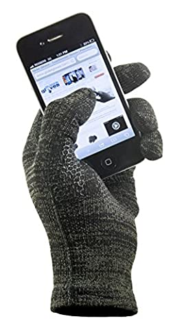 GliderGloves Copper Infused Touch Screen Gloves - Entire Surface Works On Iphones, Androids, Ipads, & Tablets - Anti Slip Palm For Driving & Phone Grip (Urban, Xl)