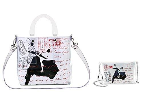 BI-BAG borsa donna modello DAILY VINTAGE + pochette Bianco