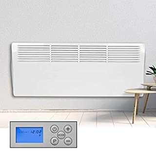 Devola Electric Panel Heater 2kW - LOT 20 Compliant & Energy Efficient. Digital 24 Hr 7 Day Timer With Thermostat, Wall Mounted Heater,
