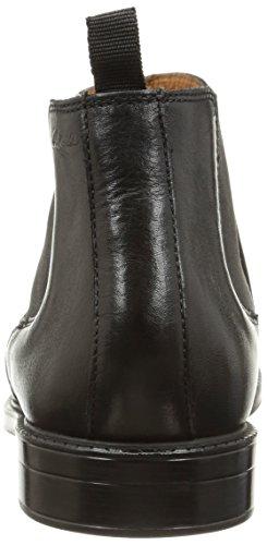 Clarks Chilver Top, Stivaletti a gamba corta mod. Chelsea, imbottitura leggera uomo Nero (Black Leather)