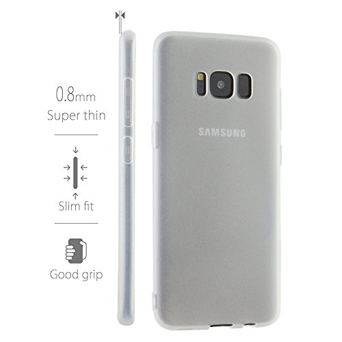 MyGadget Hülle für Samsung Galaxy S8 (2017) - TPU Crystal Case klar Schutzhülle - Backcover slim Handyhülle Silikon Cover dünne Silikonhülle - Transparent TPU Transparent