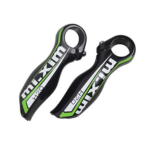 Celtics Rennrad Mountainbike MTB Bar End Aluminiumlegierung Klapprad Fahrräder Lenker Lenkerenden 1 Paar (schwarz-grün)