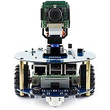 Waveshare AlphaBot2 Smart Car-Pi Raspberry Pi Version - Raspberry Pi 3B Mother Board + AlphaBot Version 2 Platform Chassis + Camera Video Robot Building Kit Starter Educational Accessories Set