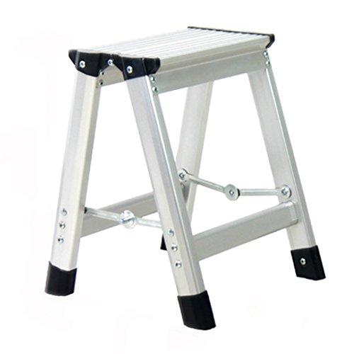 WSSF- Tragbare leichte Aluminiumlegierungs-Leiter-Schemel-hohe Qualität faltender kleiner kompakter kletternder Stufenleiter-Schritt-Schemel mit Schritt-Sicherheit Anti-Beleg-Haushalts-Garten u. Küchen-Werkzeug-Treppenhaus-Schemel, 35 * 31 * 35cm