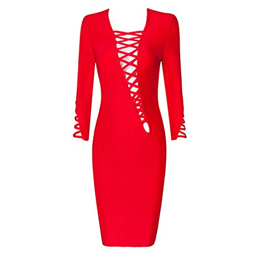 MEINICE - Robe spécial grossesse - Femme Rouge