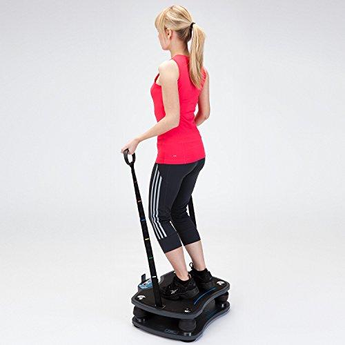 skandika Home Vibration Plate 500, Profi Vibrationsgerät, inklusive Trainingsbänder mit großer rutschsicheren Trainingsfläche, Fernbedienung und kraftvoller 3D-Vibration - 10