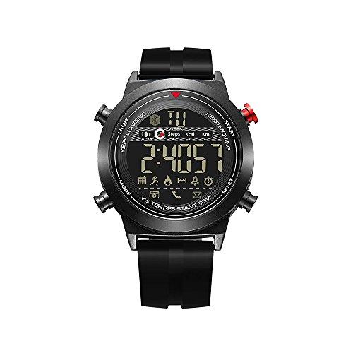AMZ BCS Explosionsgeschützte Smart Watch-Multifunktions-Bluetooth-Armband-wasserdichtes Leuchtarmband mit Sportzähler-Telefoninformations-Alarm-Erinnerung und andere Funktionen