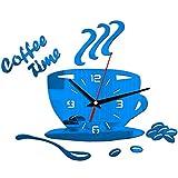 ZFMLXFMM Reloj de Pared 14D,Reloj de Pared de Bricolaje, Etiqueta de Pared de decoración del hogar, Adecuado para la decoración de la Sala de té del Restaurante, B