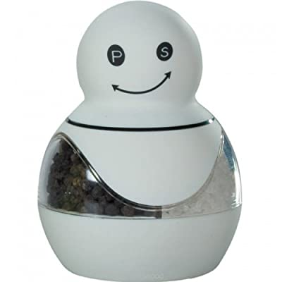 Snowman Combo Salt & Pepper Mill, White from Grunwerg