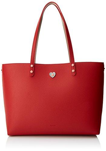 Tous Super Power, Bolso Totes para Mujer, Varios Colores (Topo-Rojo), 15x28x34 cm (W x H x L)