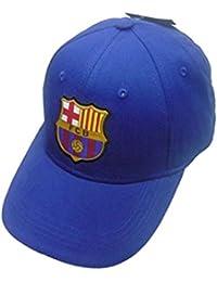 FC Barcelone - Casquette FC Barcelone officiel enfant Taille réglable avec Scratch - 52 cm,54 cm,56 cm