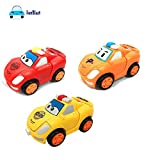 FunBlast Pull Push Back Action Robot Car Toy for Kids, Transformer Racing Car