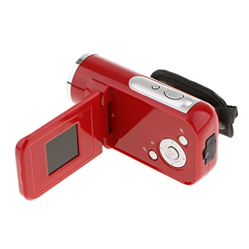 Segolike Camera Mini Digital Video Camcorder HD DV 1.8'' Screen 8x Zoom (Red)
