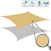 Cool Area 2x 3m rectángulo Toldo parasol Toldo, protección UV PES impermeable para balcón Terraza Jardín, arena
