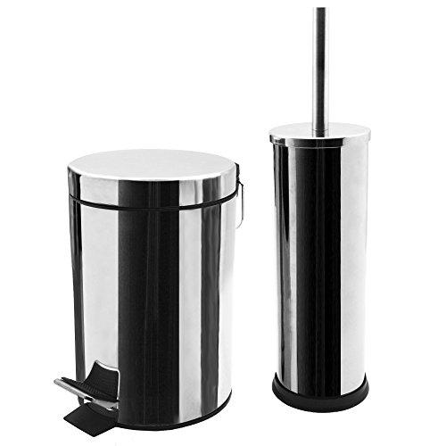 harbour-housewares-bathroom-pedal-bin-and-toilet-brush-set-3-litre-bin-chrome-finish