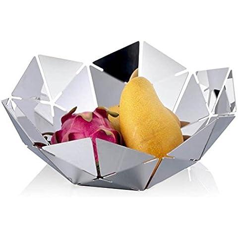 soggiorno moderno placca europea frutta Water Cube creativi della moda cesto di frutta caramelle piatto secco della decorazione della casa in acciaio inox