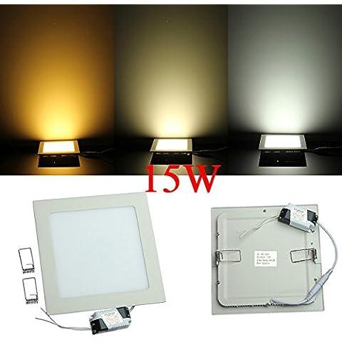 La luz del panel de Dimmable 15W Square ultrafino de techo ahorro de energía LED.