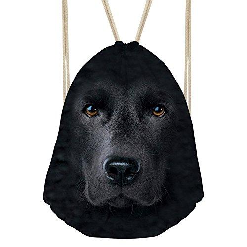 Machen Drawstring Handtasche (showudesigns Cool Animal Kids Erwachsene Kordelzug Rucksack Gym Fußball Sporttasche M animal 12)