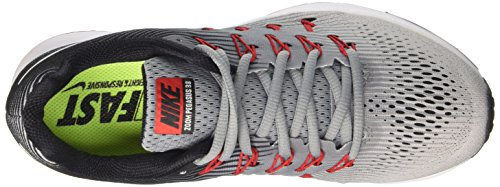 Nike Herren Air Zoom Pegasus 33 Laufschuhe Grau (Stealth/white/pure Platinum/black/univ Red)