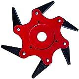 VuffuwUniversal 6 Steel Blades Trimmer Head Cutter Grass Razors Mower Accessories (Red)