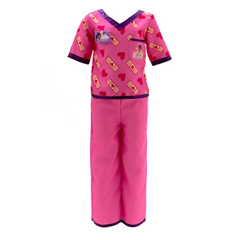 DS Disney Store Costume Dottoressa Peluche Dottie Medico Versione Chirurgo con Stetoscopio Bambina Bimba Originale 7-8 Anni