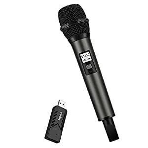 fifine uhf dynamic vocal microphone selectable frequencies wireless microphone with usb stick. Black Bedroom Furniture Sets. Home Design Ideas