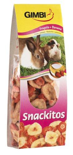 Gimbi Snackitos Erdbeere plus Banane, 60 g, 4er Pack (4 x 60 g)