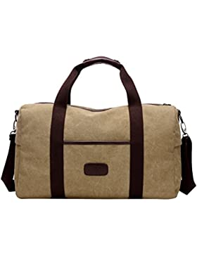 MissFox Herren Retro Canvas Umhängetasche Handtasche Groß Crossbody Bag Multifunktionen für Reisen Übung